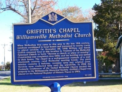 Griffith's Chapel Marker image. Click for full size.