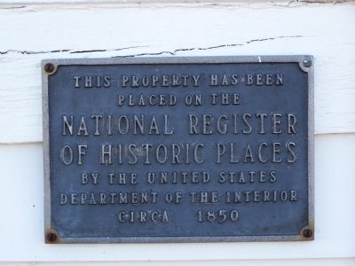 National Register of Historic Places Plaque image. Click for full size.