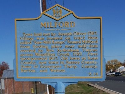 Milford Marker image. Click for full size.