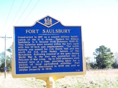 Fort Saulsbury Marker image. Click for full size.
