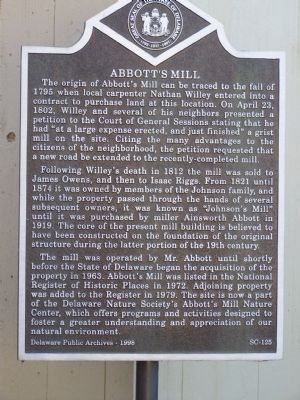 Abbott's Mill Marker image. Click for full size.