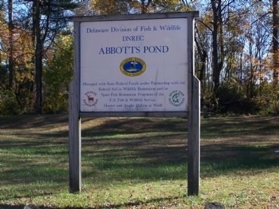 Abbott's Pond Sign image. Click for full size.