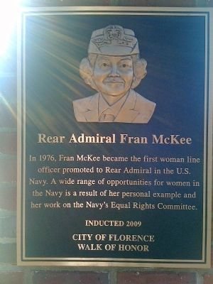 Rear Admiral Fran McKee Marker image. Click for full size.