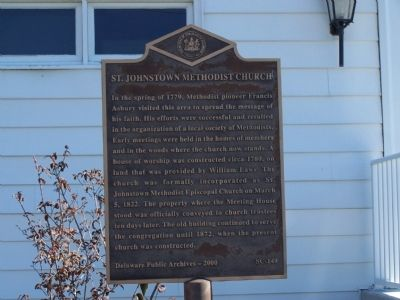 St. Johnstown Methodist Church Marker image. Click for full size.