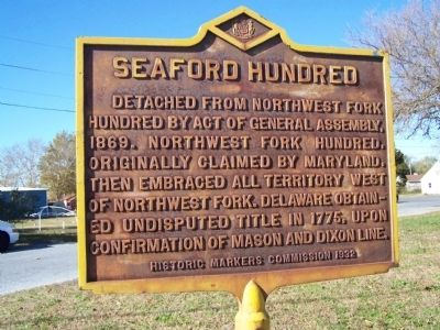 Seaford Hundred Marker image. Click for full size.