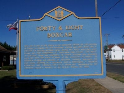 Forty & Eight Boxcar Marker image. Click for full size.