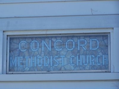 Concord United Methodist Church Dedication Window image. Click for full size.