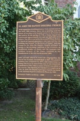 St. John The Baptist Episcopal Church Marker image. Click for full size.