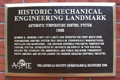 Automatic Temperature Control System Marker image. Click for full size.