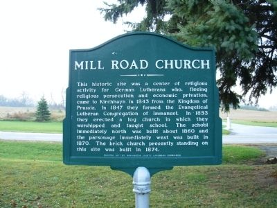 Mill Road Church Marker image. Click for full size.