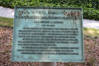 74th Ohio Infantry Marker image. Click for full size.