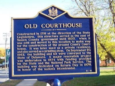 Old Courthouse Marker image. Click for full size.