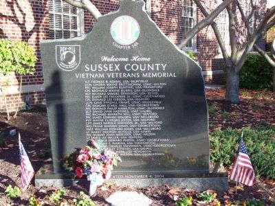 Sussex County Vietnam Veterans Memorial Marker image. Click for full size.