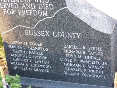 Sussex County Korean War Memorial image. Click for full size.