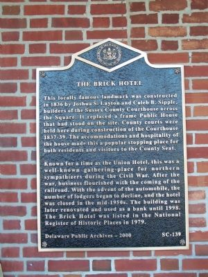 The Brick Hotel Marker image. Click for full size.