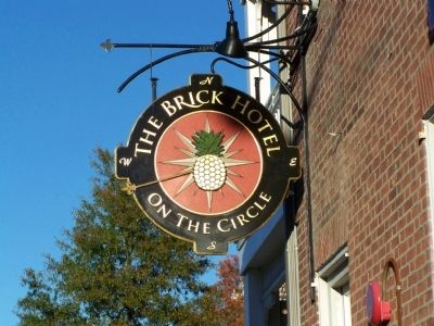 The Brick Hotel Sign image. Click for full size.