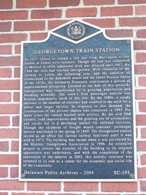 Georgetown Train Station Marker image. Click for full size.