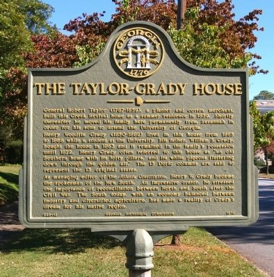The Taylor-Grady House Marker image. Click for full size.