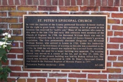 St. Peter's Episcopal Church Marker image. Click for full size.