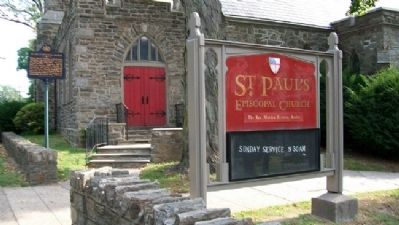 St. Paul's Episcopal Church and Marker image. Click for full size.