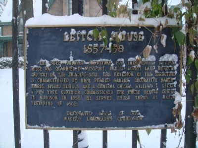 Leitch House Marker image. Click for full size.