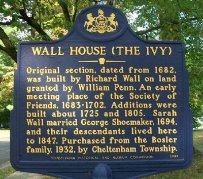 Wall House (The Ivy) Marker image. Click for full size.