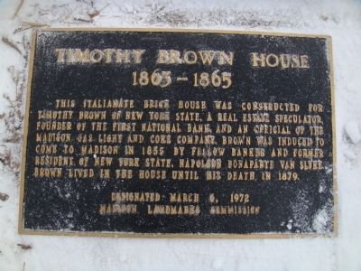 Timothy Brown House Marker image. Click for full size.