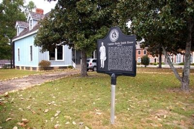 Captain Hardy Smith House Marker -- Side 1 image. Click for full size.