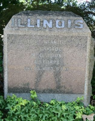 100th Illinois Infantry Marker image. Click for full size.