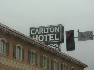 The Carlton Hotel Neon Sign image. Click for full size.