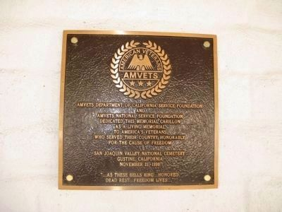 AMVETS Dedication Plaque image. Click for full size.