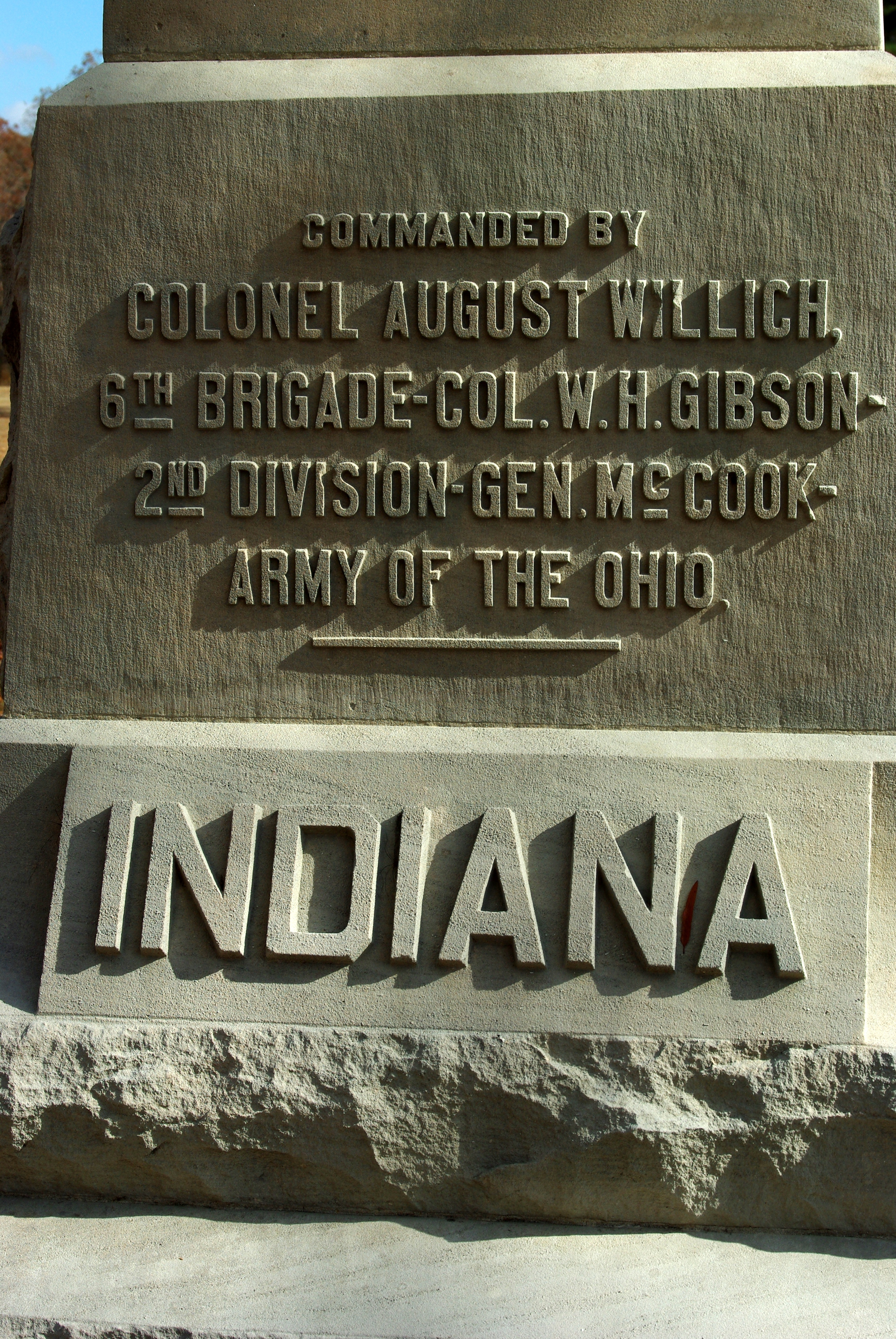 32nd Indiana Infantry Marker