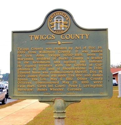 Twiggs County Marker image. Click for full size.
