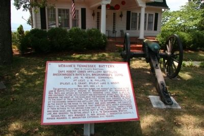 Mebane's Tennessee Battery. Marker image. Click for full size.