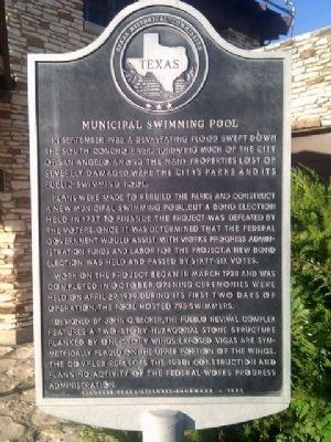 Municipal Swimming Pool Marker image. Click for full size.