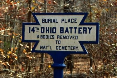 14th Ohio Battery Marker image. Click for full size.