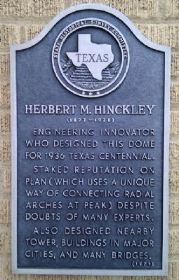 Herbert M. Hinckley Marker image. Click for full size.