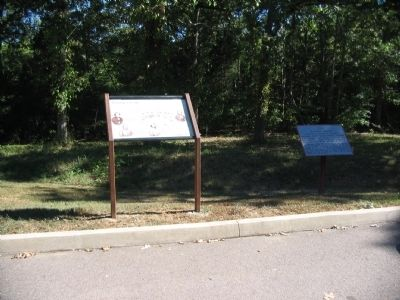 Marker and Tablet at Stop Nine image. Click for full size.