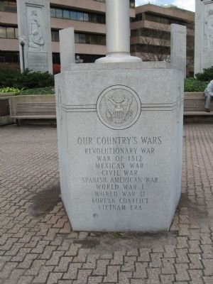 Flagpole Base in front of the Memorial image. Click for full size.