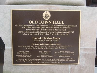 Stamford Old Town Hall Marker image. Click for full size.
