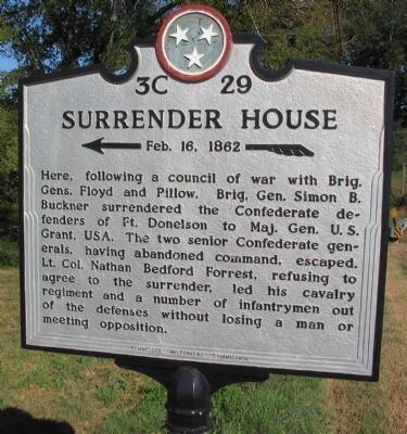 Surrender House Marker image. Click for full size.