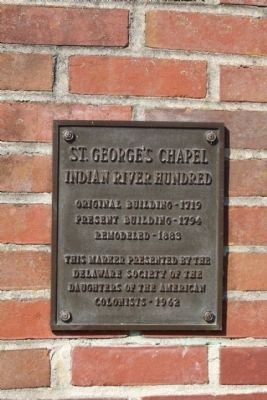 St. Georges Chapel Marker image. Click for full size.