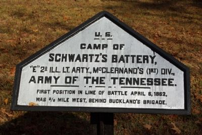 Camp of Schwartz's Battery Marker image. Click for full size.