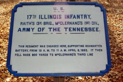 17th Illinois Infantry Marker image. Click for full size.