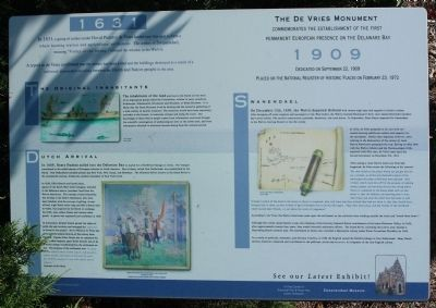 The De Vries Monument Marker image. Click for full size.