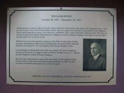 William Irvine Marker image. Click for full size.