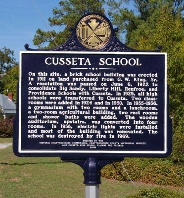 Cusseta School Marker image. Click for full size.