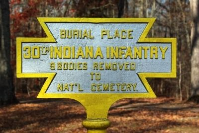 30th Indiana Infantry Marker image. Click for full size.