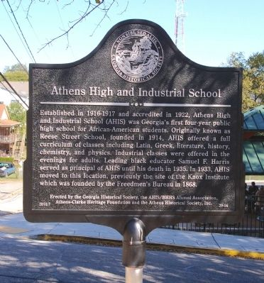 Athens High and Industrial School Marker image. Click for full size.