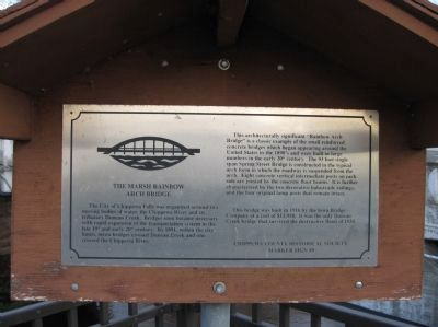 The Marsh Rainbow Arch Bridge Marker image. Click for full size.